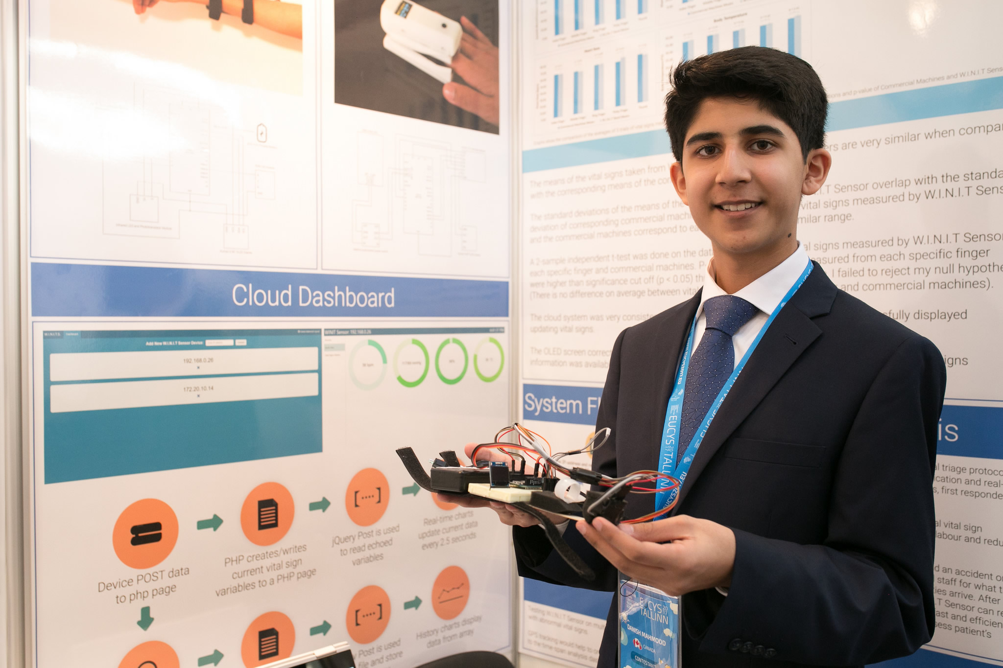 Danish Mahmood with his project