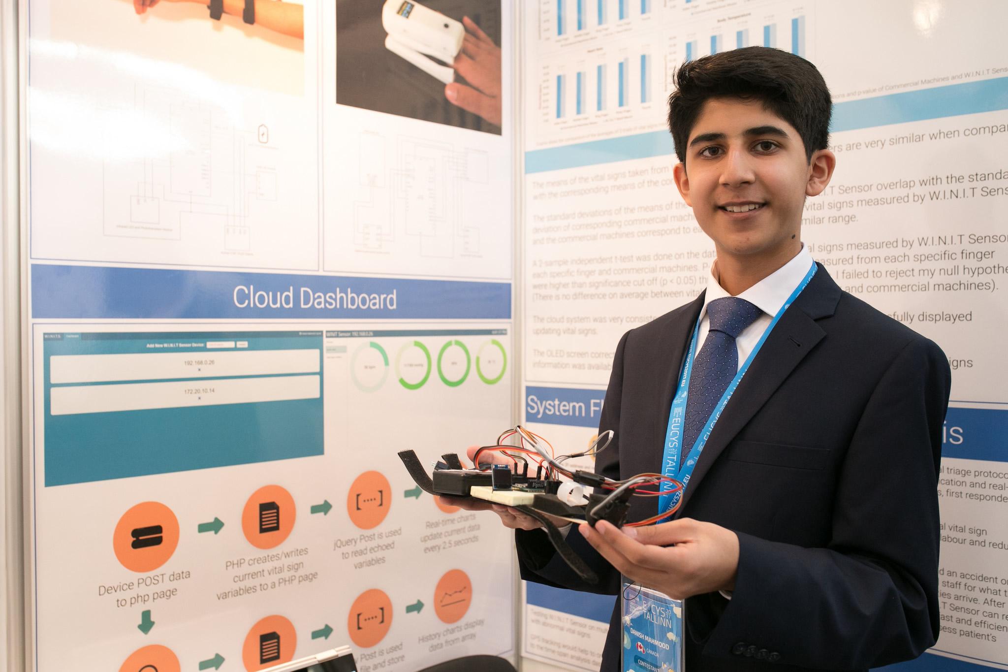 Danish Mahmood with his project