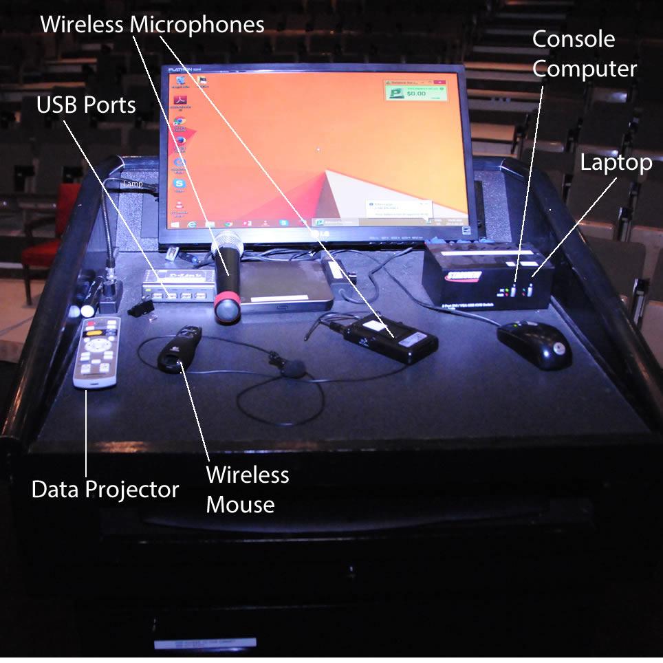 Console in Auditorium