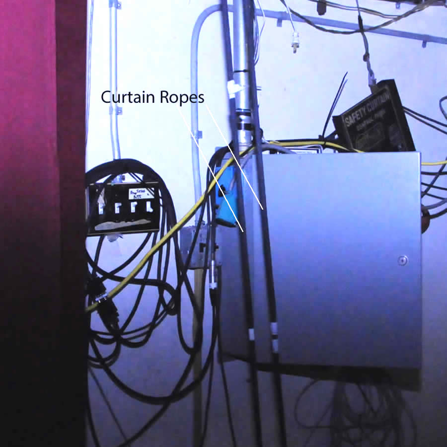 Curtain Ropes in Auditorium